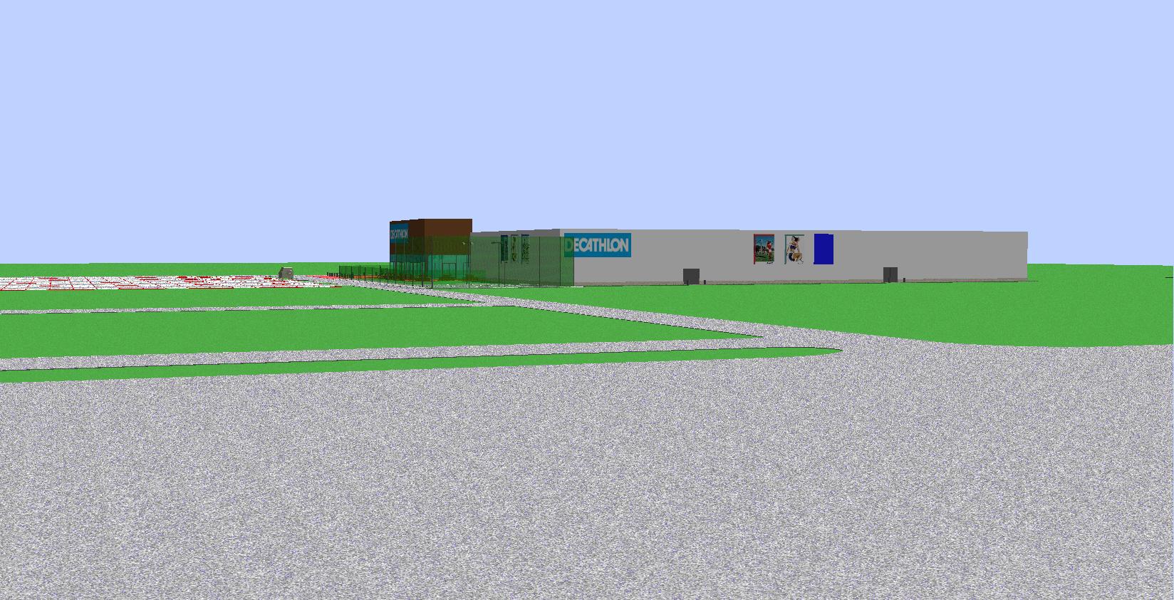Homlokzat Auchan felol
